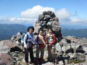 茶臼岳頂上参加者の方