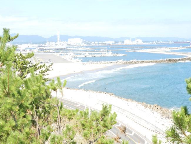 展望台から松川漁港